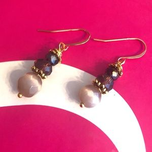 Frontrow.style Jewelry - 22k over Sterling Silver Earrings Blush Cats Eye